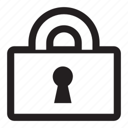 keyhole, lock, locked, read only, secure, security icon