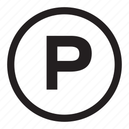 p, parking, signs icon