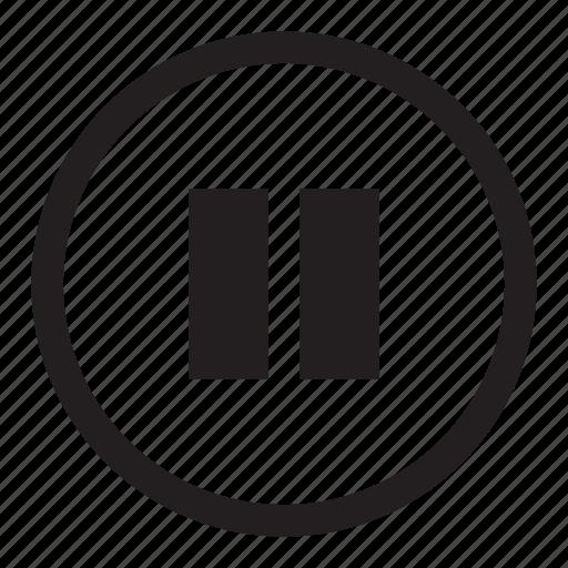 audio, button, control, media, pause icon