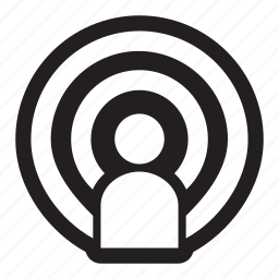 announcer, audio, broadcast, episode, hear, host, media, music, podcast icon