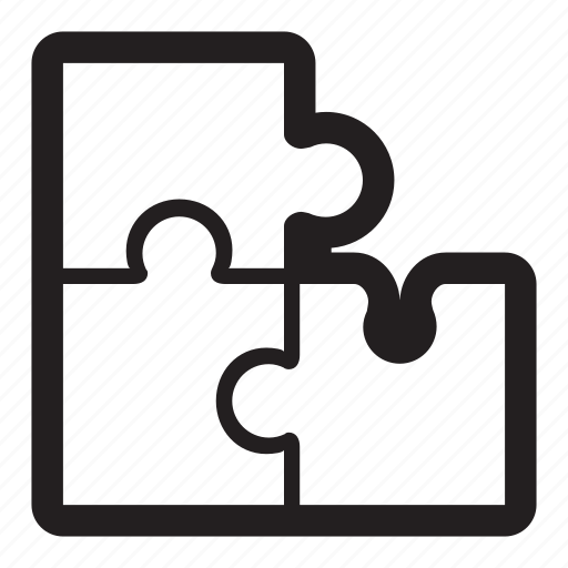 build, edit, pieces, puzzle, solve icon