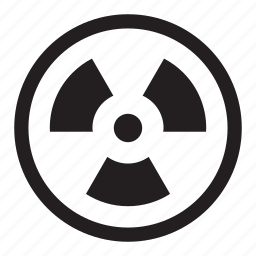 danger, radiation, radioactive, reel, warning icon