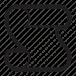 code, new, paper, script, scroll icon