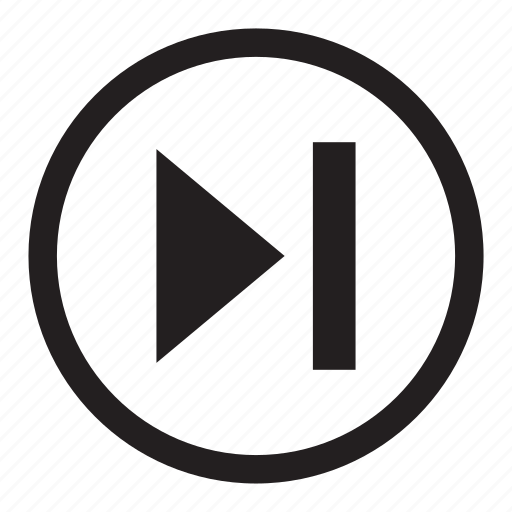 advance, arrow, button, forward, media, skip icon