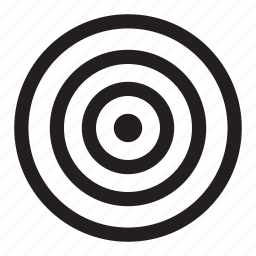 archery, bullseye, circles, exact, target icon