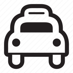cab, car, driver, fare, ride, taxi, transit, transportation, urban icon