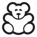 animal, bear, children, cute, kids, teddy, toys icon