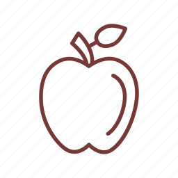 apple, eating, food, fruit, health, healthcare icon
