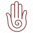 finger, gesture, hand, massage, touch icon