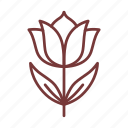 cosmetics, flower, leaf, nature, tulip icon