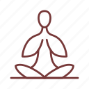 female, lotus, woman, yoga icon