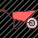 cart, construction, gardening, tools and utensils, trolley, wheelbarrow icon