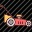 gardening, lawn mower, machine, mower, tools and utensils, yard icon