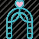 arch, celebration, heart, love, romantic, wedding icon