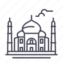 landmark, tourism, india, taj mahal, mosque