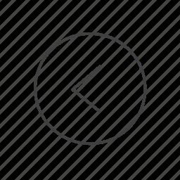 arrow, back, direction, left, line, location, navigation icon