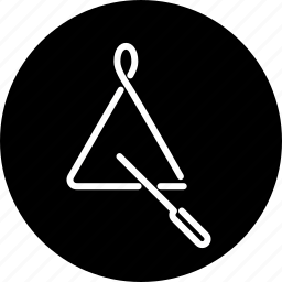 instrument, music, musical, percussion, triangle icon