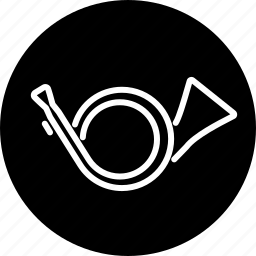 brass, horn, instrument, music, musical, wind icon