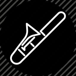 brass, instrument, jazz, music, musical, trombone, wind icon