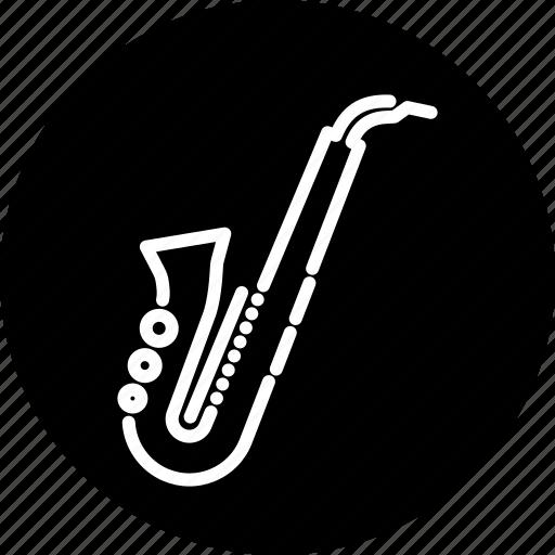 brass, instrument, jazz, music, musical, saxophone, wind icon