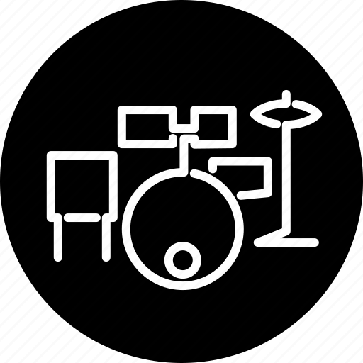 drum set, drums, instrument, music, musical, percussion, rhythm icon