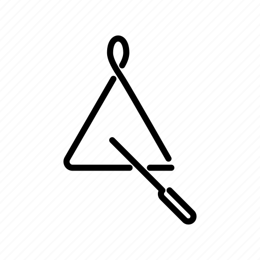 instrument, music, musical, percussion, stick, triangle icon