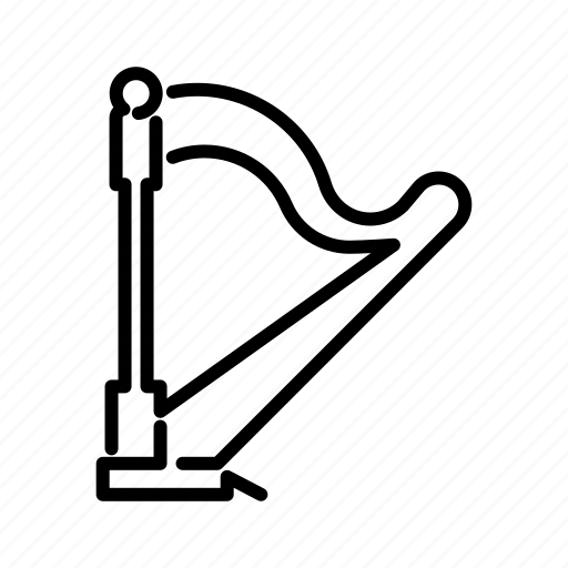 harp, instrument, music, musical, string icon
