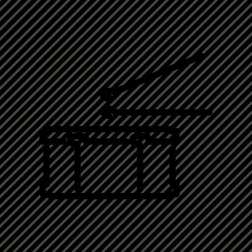 drum, instrument, music, musical, rhythm, snare drum, sticks icon