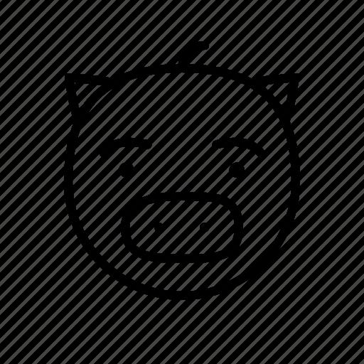 animal, face, pet, pig, piglet, swine, zoo icon