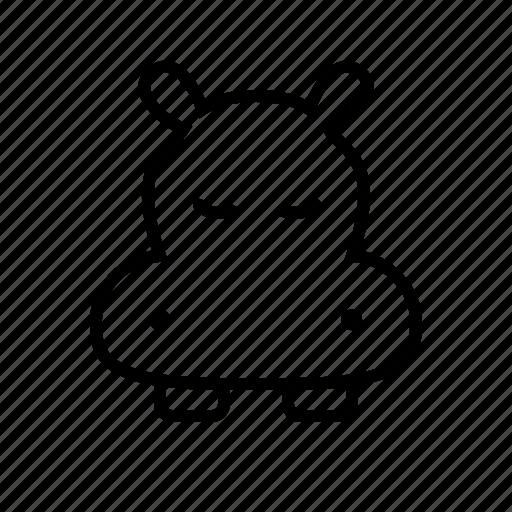 animal, face, hippo, hippopotamus, pet, zoo icon