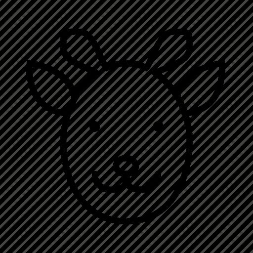 animal, face, giraffe, giraffes, pet, zoo icon