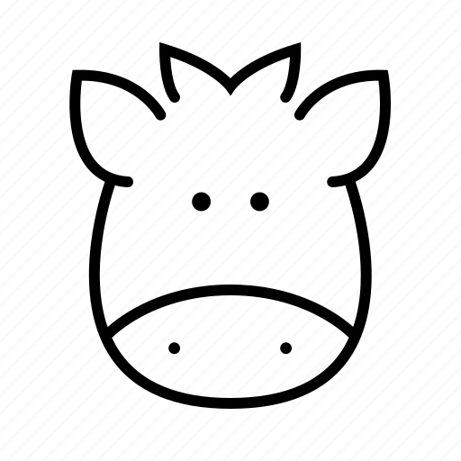 animal, bull, cow, face, pet, rattle, zoo icon
