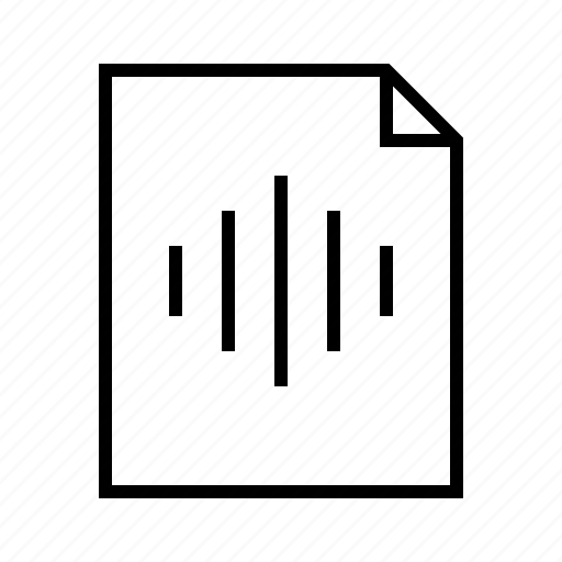 file, mp3, recording, sound, speech, wav, wave icon