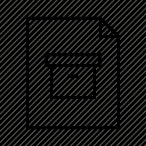 archive, box, compressed, data, file, zip icon