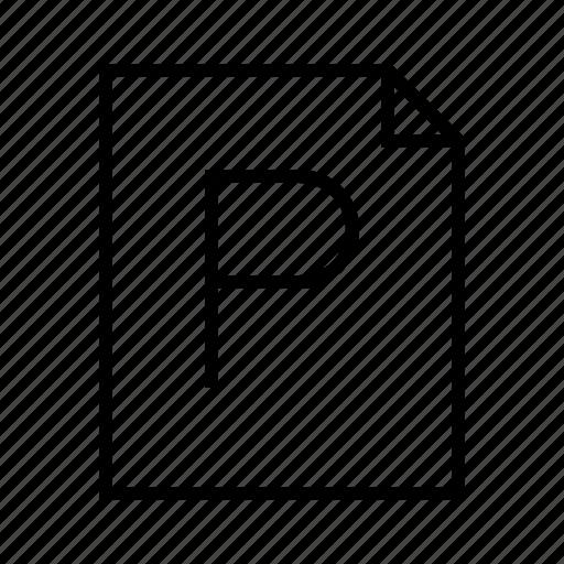 file, p, photoshop, psd icon