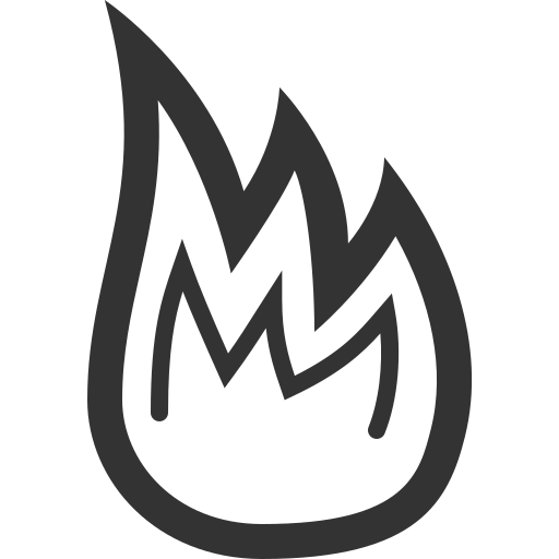 burn, fire, flame, hot, torch icon