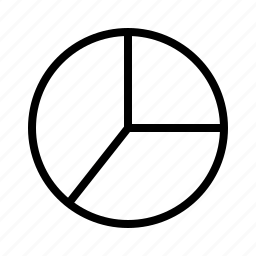 chart, line, pie icon