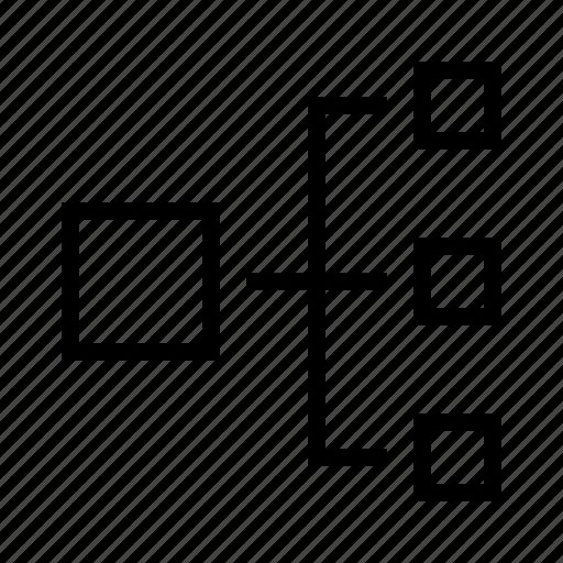 chart, hirachy, org, sideways icon