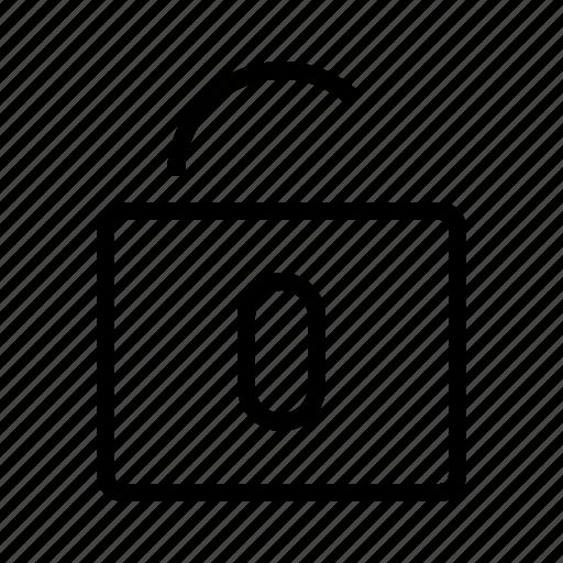 open, padlock icon