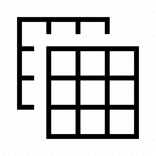 duplicate, grid icon