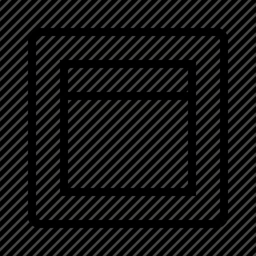 header, layout icon