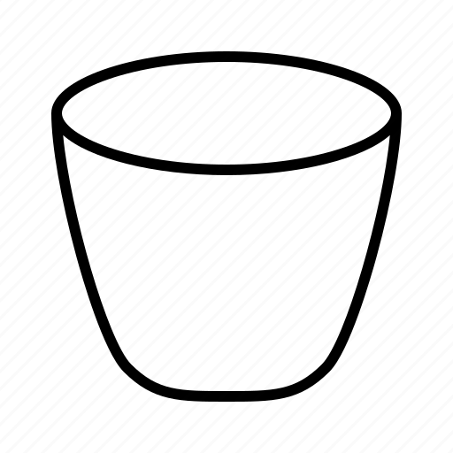bucket, can, canister, cask, minecraft, pot, vat icon