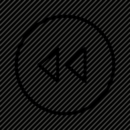 m, previous icon
