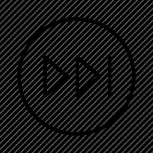 m, next icon
