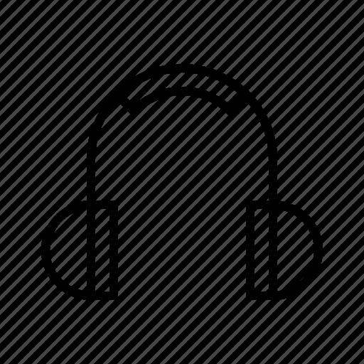 headphones, m icon