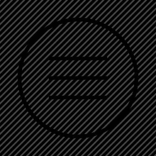 m, menu icon