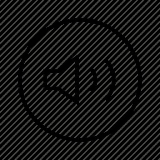 m, sound on, unmute icon