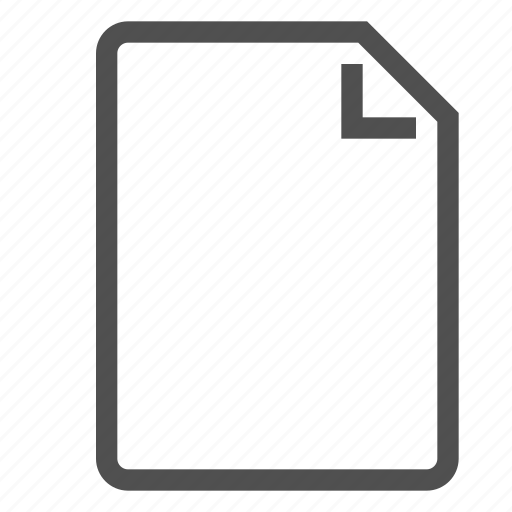 clean, document, new, page, paper, sheet icon