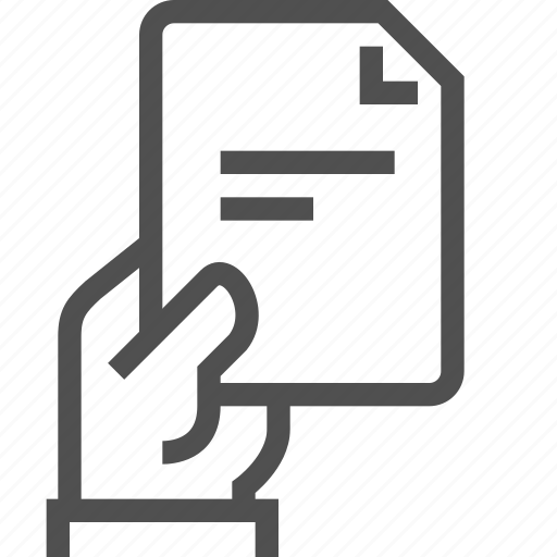 document, file, hand, human, page, paper, text icon