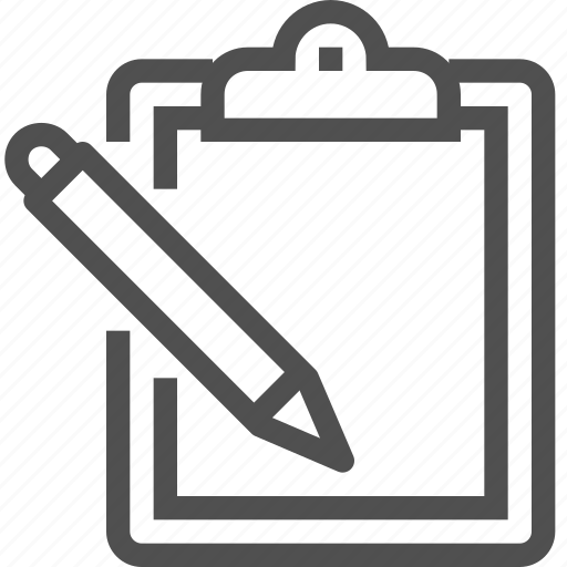 check, clipboard, list, pen, pencil, plan, writing icon